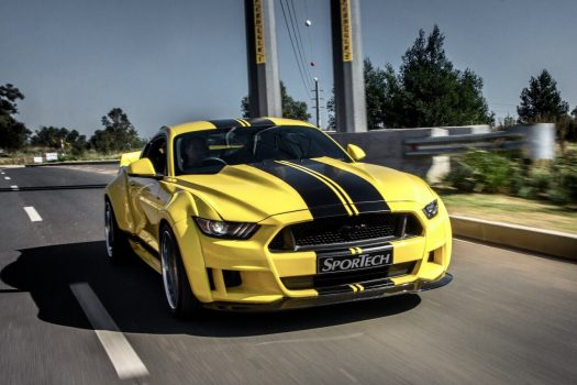Yellow Mustang Front